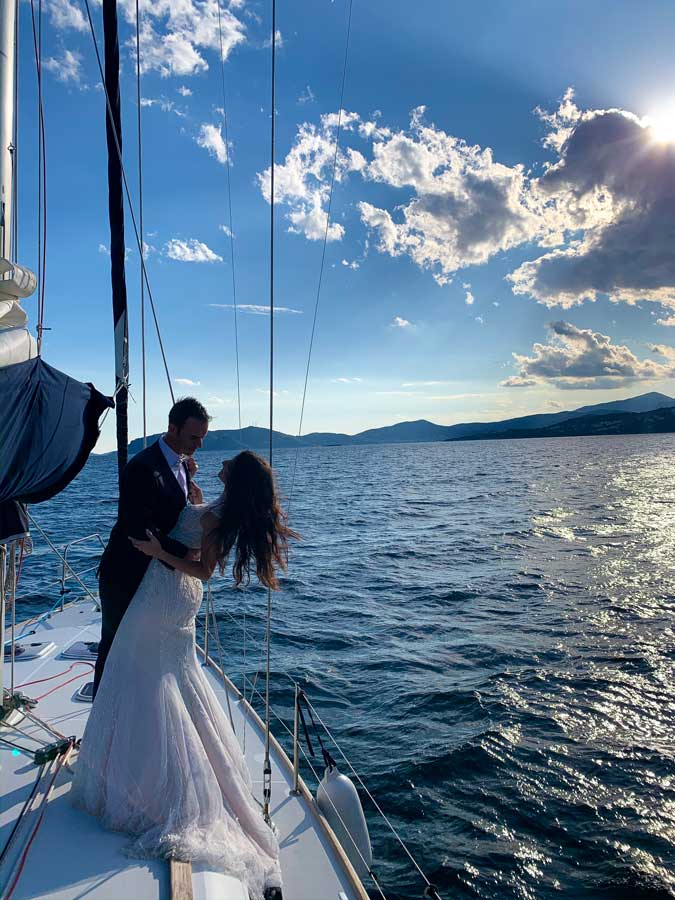 Daily Cruise Special event cruise wedding photography on sailboat Kavala