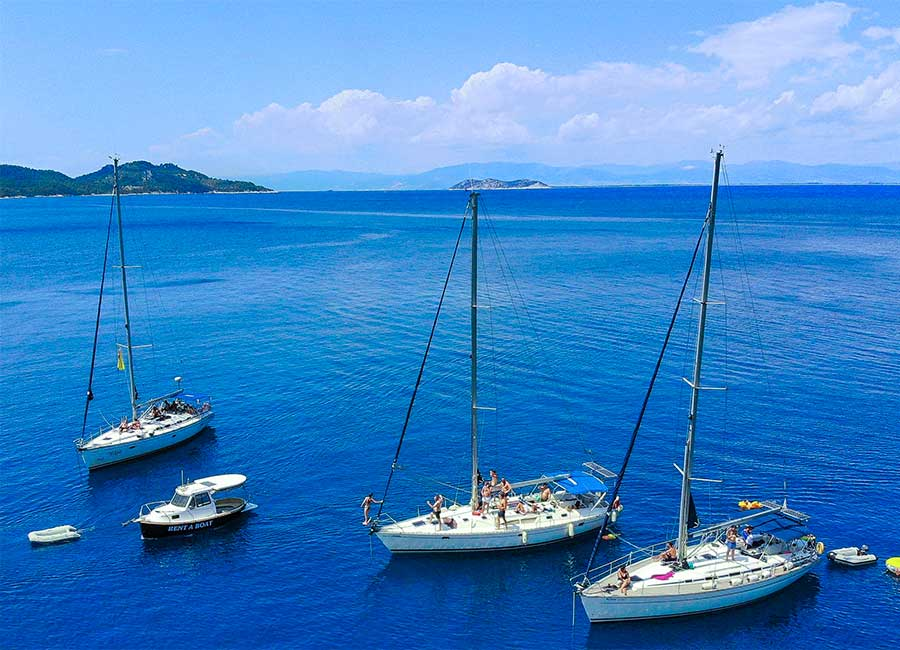 Two days cruise with sailing yachts in Kavala and Thasos.